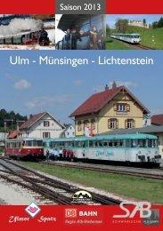 Jahresprogramm 2013 als pdf-Druckversion - Schwäbische Alb Bahn