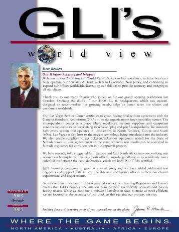 Fall/Winter 2003/2004 - Gaming Laboratories International