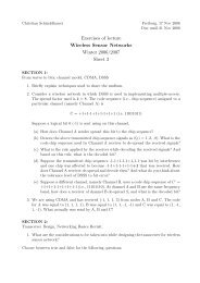 Exercises of lecture Wireless Sensor Networks Winter 2006/2007 ...