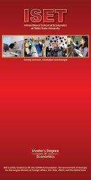 Master's Degree Economics - ISET