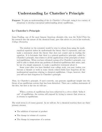 report sheet le chatelier 39 s principle library. Black Bedroom Furniture Sets. Home Design Ideas