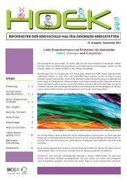 10. HOEK Fenster (September 2011) - HOEK News - Agenda
