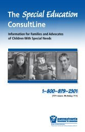 The Special Education ConsultLine - Disability Rights Network of ...