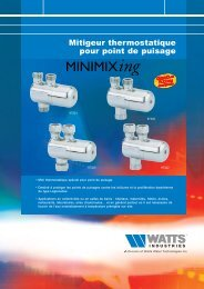 Mitigeur thermostatique pour point de puisage - Watts Industries
