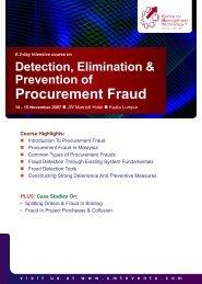 Procurement Fraud - CMT Conferences