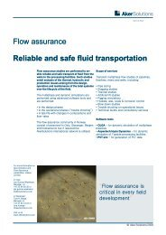 Flow assurance Reliable and safe fluid transportation - Aker Solutions