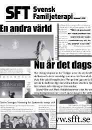 SFT – Svensk Familjeterapi nr 1 2012 - Svenska föreningen för ...