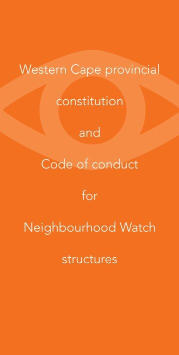 Western Cape provincial constitution and Code of conduct for ...