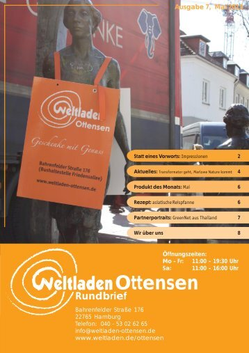 Ottensen - Weltladen-Dachverband