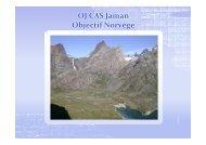 OJ CAS Jaman Objectif Norvège - Club Alpin Suisse Section Jaman