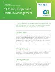 Clarity PPM for IT Governance (ITG) - Digital Celerity