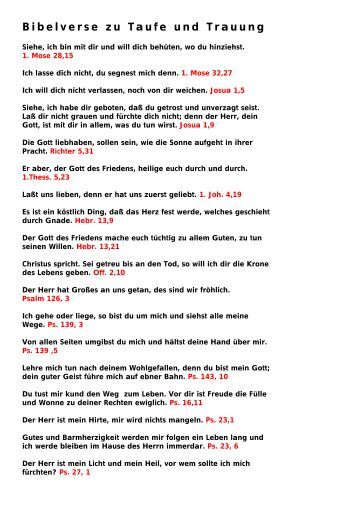Taufe Bibelverse