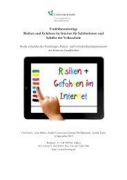 Risiken und Gefahren im Internet für ... - SchulArena.com