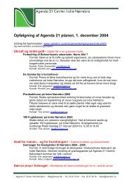 Opfølgning af Agenda 21 planen, 1. december 2004