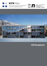 Flyer CAS Bauphysik - HTW Chur