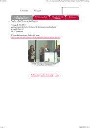 Newsletter Juli - Gleichstellungsbüro der Leibniz Universität Hannover
