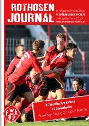 FC Würzburger Kickers - FC gerolzhofen 19. Spieltag - Samstag ...