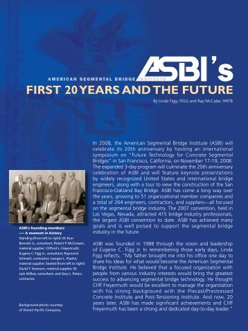 ASBI's First 20 Years And The Future - Aspire - The Concrete Bridge ...