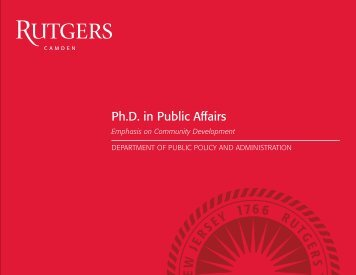 Public Affairs - Rutgers University-Camden - Rutgers, The State ...