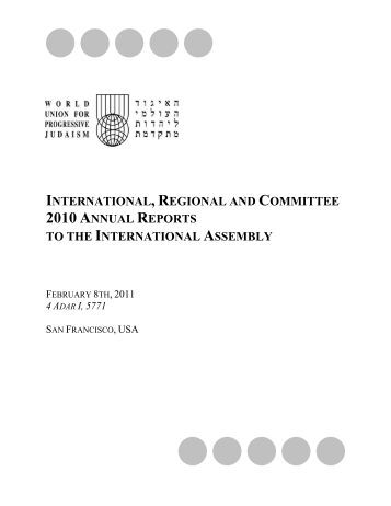 international, regional and committee 2010  annual reports to the ...