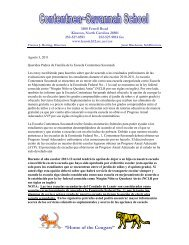 and SES (K-8) Letter for Cont-Sav School (SPANISH--8-1-11)
