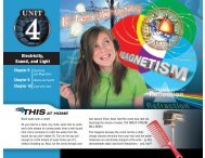 Unit 4 Electricity Sound And Light - Spokane Public Schools
