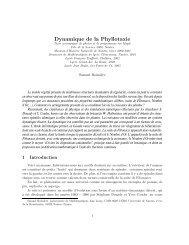 Dynamique de la Phyllotaxie - Mathématiques - Université de Poitiers