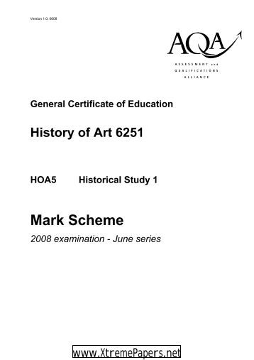 GCE History of Art Unit 5 - Historical Study 1 Mark ... - XtremePapers