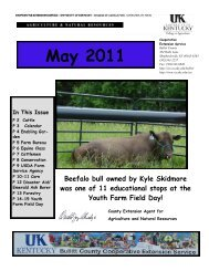 2011 May Newsletter - Bullitt County Cooperative Extension ...