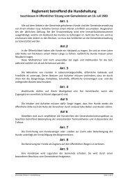 Reglement betreffend die Hundehaltung - Septfontaines