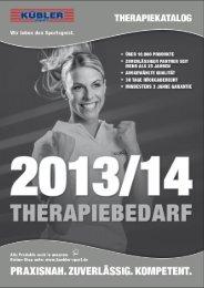 Hier Therapiekatalog herunterladen - Kübler Sport GmbH