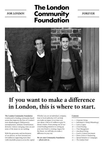 If you want to make a difference in London, this is where to start.