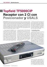 Topfield TF5000CIP Receptor con 2 CI con Posicionador y USALS