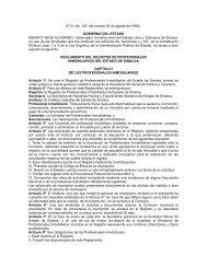 reglamento del registro de profesionales inmobiliarios del estado de ...
