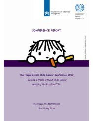 The Hague Global Child Labour Conference 2010 - Food ...