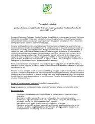 termenii de referinţă. - Soros Foundation Moldova