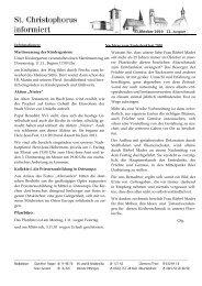 22. Ausgabe vom 31. Oktober 2010 - St. Christophorus Percha