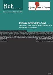 L'affaire Khaled Ben Saïd - Nawaat