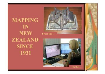 MAPPING IN NEW ZEALAND SINCE 1931 1931 - Survgrid