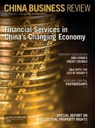China Business Review - 4Q 2012 - Miller & Chevalier