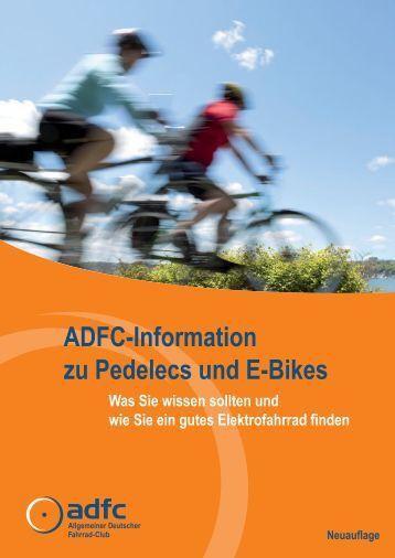 ADFC-Information zu Pedelecs und E-Bikes Was Sie wissen sollten ...