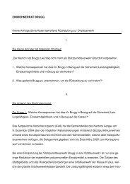 Antwort des Stadtrates zur kleinen Anfrage - Brugg