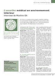 Conseiller médical en environnement intérieur Interview de ... - SPLF