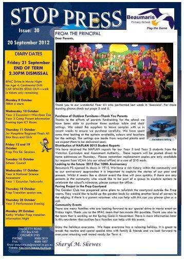 Issue: 30 20 September 2012 - Beaumaris Primary School