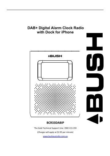 DAB+ Digital Alarm Clock Radio with Dock for iPhone - Bush Australia