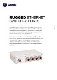 Product Sheet Rugged Ethernet Switch 8 ports.pdf - Saab