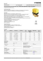 DETACH 2-vägs ventil med ställdon (SE201103.25.101) - Sauter ...