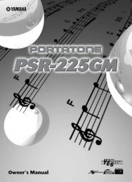 PSR-225GM - Synth Zone