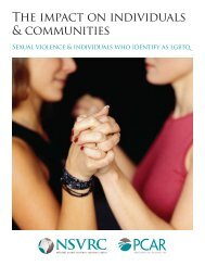 The impact on individuals & communities - National Sexual Violence ...
