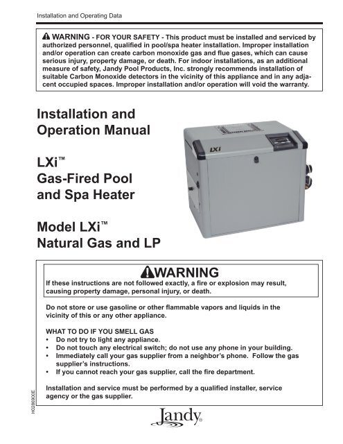 aqualink wiring diagram jandy lxi installation and operation manual piscines et spas  jandy lxi installation and operation